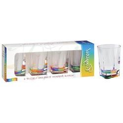 Merritt International Acrylic Drinkware Gift Sets Rainbow Cr
