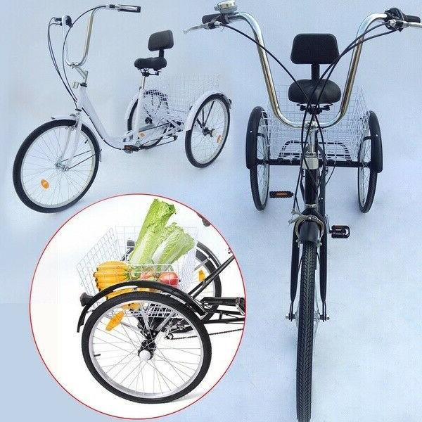 "7-Speed 24"" Unisex Tricycle Bike"