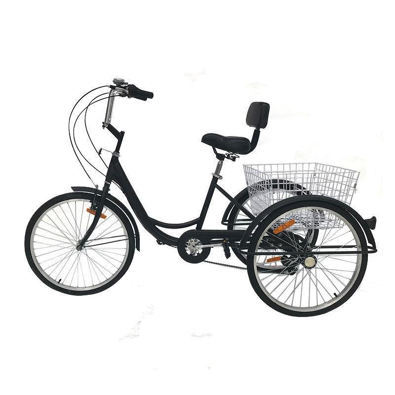 """Adult 24"""" 3-Wheel Tricycle Bike Cruise With H"""