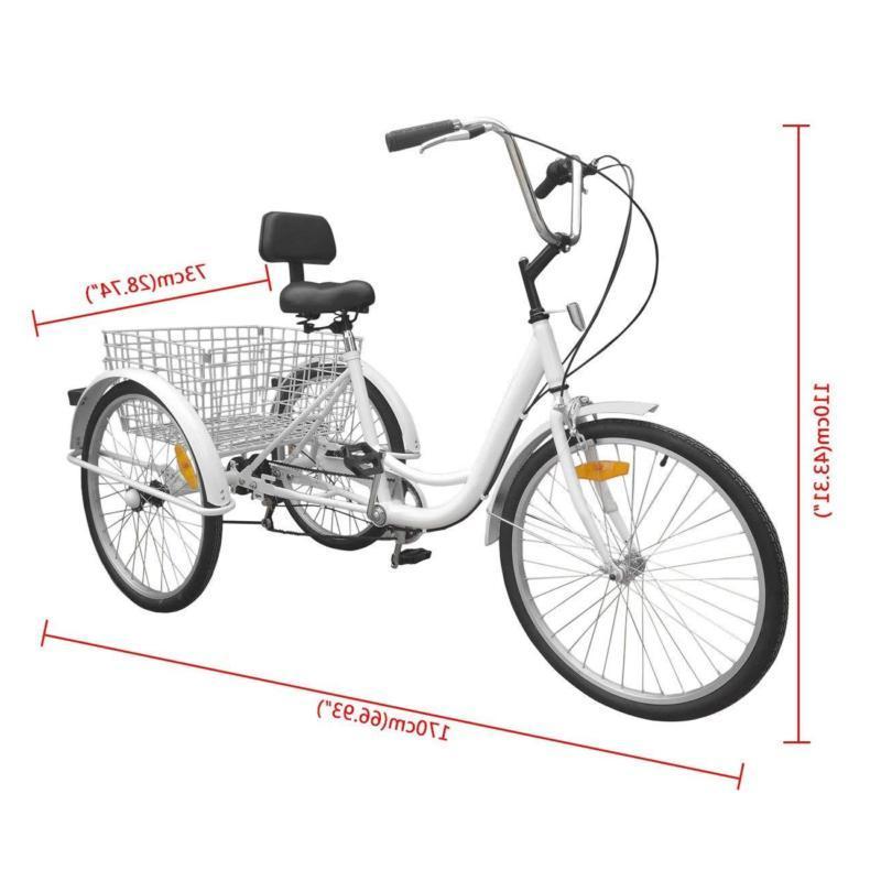 Adult Adult 3-Wheel Trike Bicycle Bike H