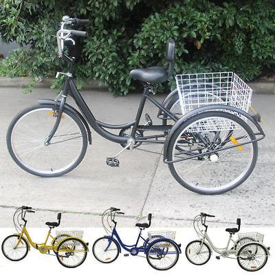 7-Speed Unisex Trike Bike Cruise W/Basket