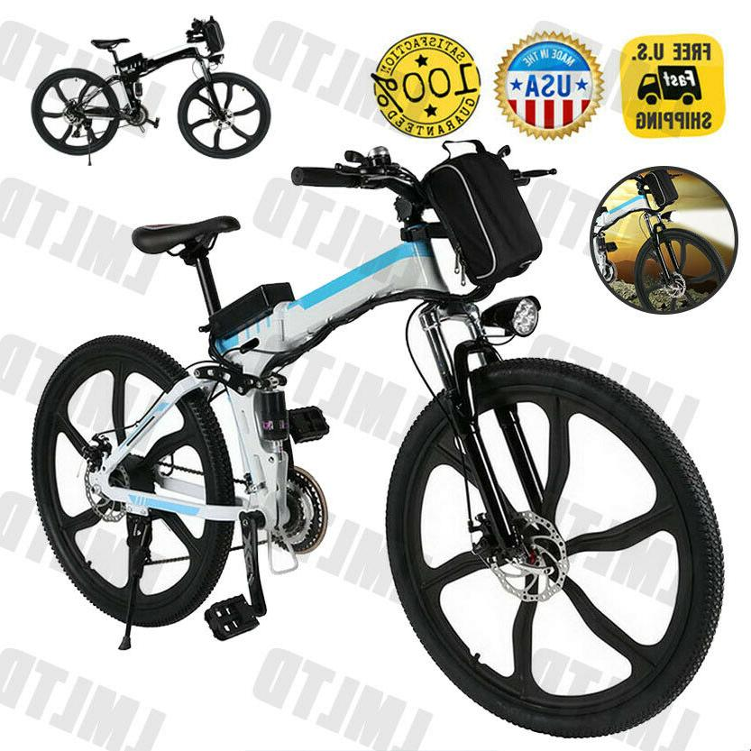 """Ancheer 26"""" Mountain City Electric Bicycle e-Bike Removable"""