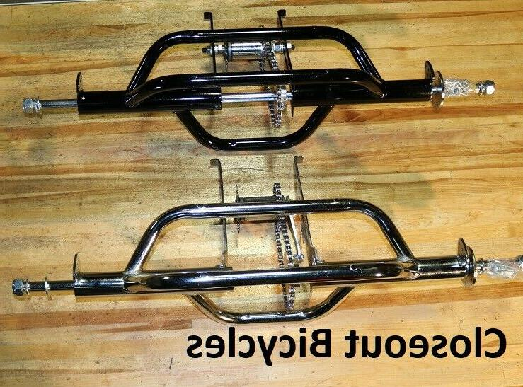 "Lowrider 12/"" Flared Stander Hollow Trike Conversion Kit Fender Set Chrome."