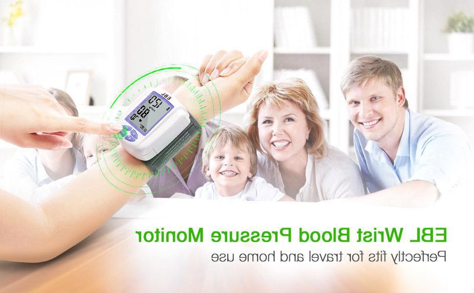 Automatic Digital Wrist Blood Pressure Monitor Machine Home