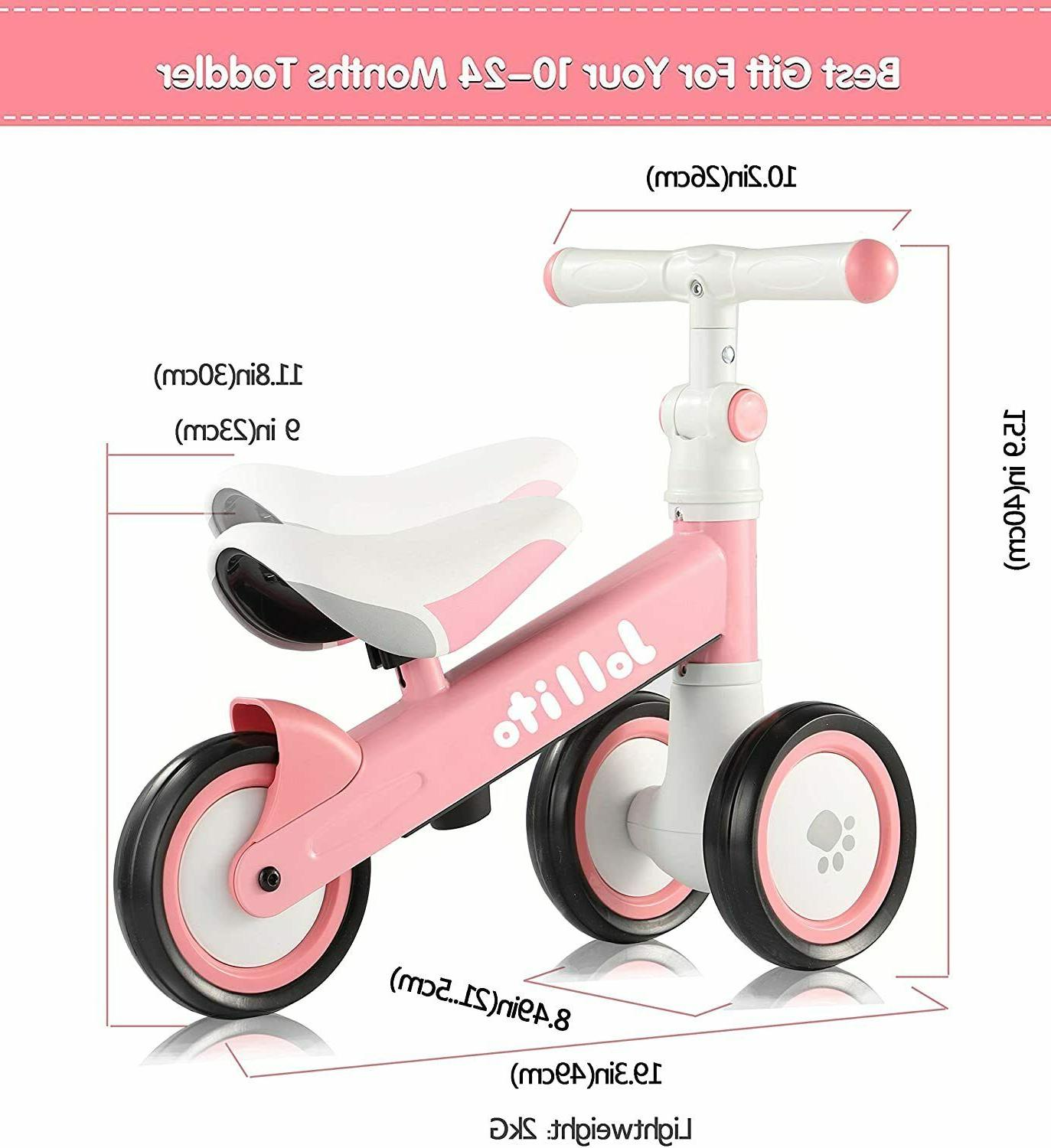 Jollito Bike, Toddler Baby with 4 Wheels 10-24 Months, Baby