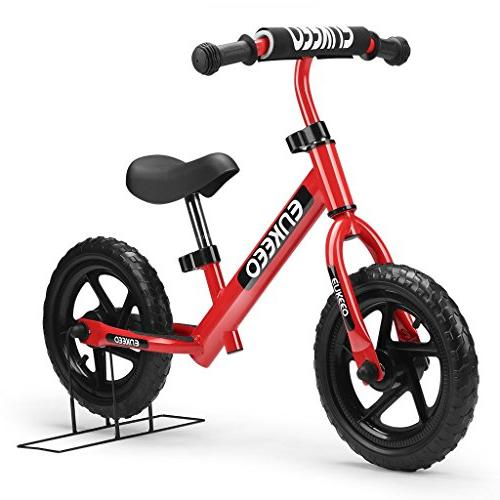 """12"""" Sport Balance Red Bike No Pedal Walking Bicycle With Car"""