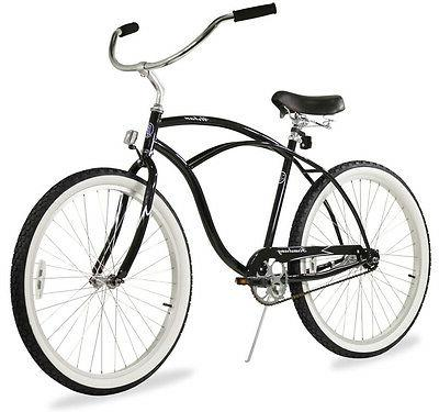 "26"" Men Beach Cruiser Bicycle Bike Firmstrong Urban Black"