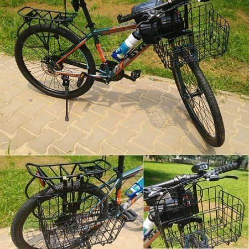Foldable Folding Metal Wire Basket for Bike Bicycle Front Ba