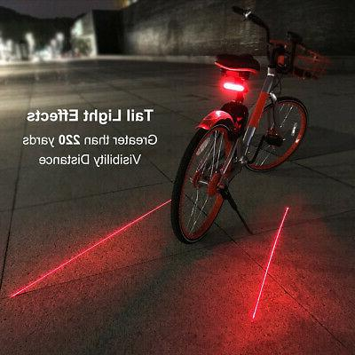 Bicycle Bike Tail Light Wireless Remote Control Signals Lights