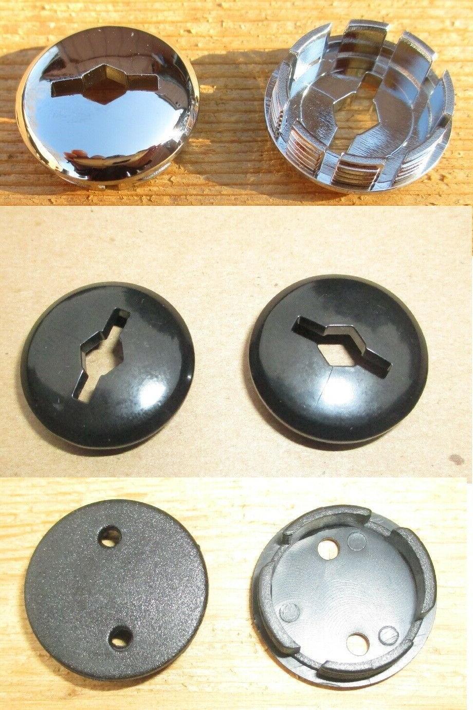 Bicycle Bottom Bracket Crank Arm Dust Cover Caps Set of 2 Chrome or Black