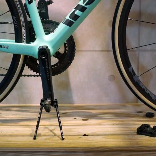 Gearoop Bicycle Crank Adjustable Kick Stand Leg 120mm-140mm Silver//Red//Black