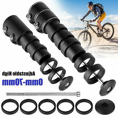 bicycle fork stem extender mtb bike handlebar