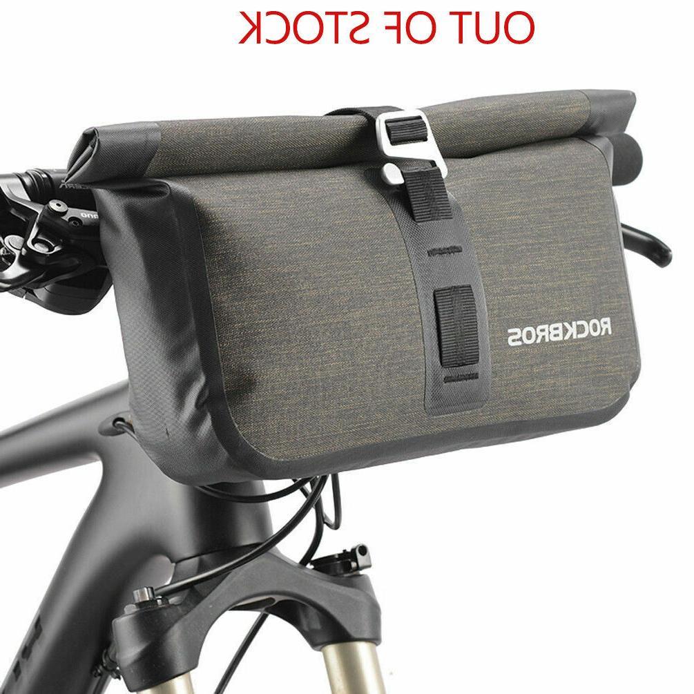 ROCKBROS Bicycle Front Handlebar Bag Waterproof Cycling Tube