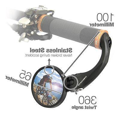 Venzo Bicycle Handlebar Stainless Steel Mirror Universal Design