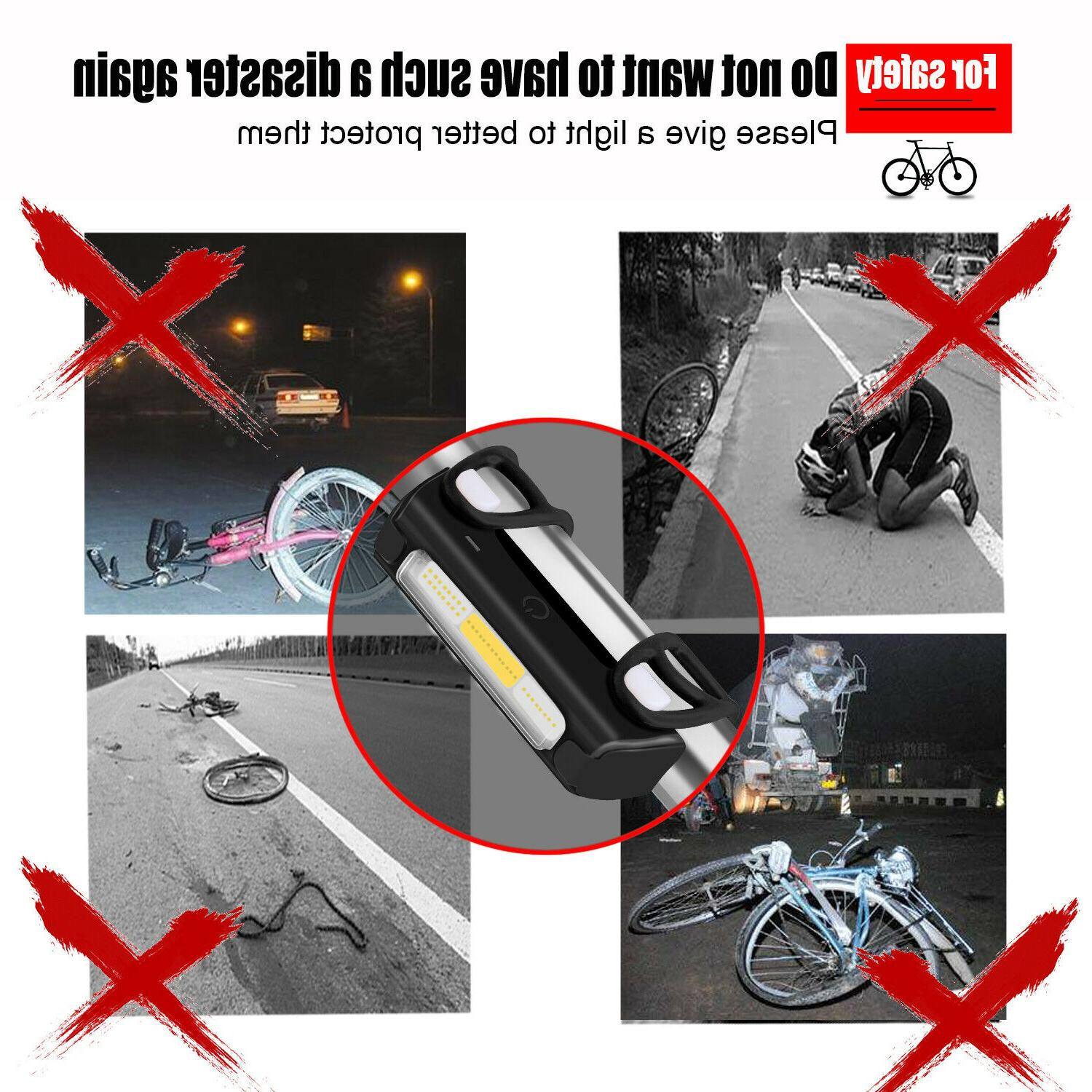 Bicycle Rear Light LED Rechargeable Safe Warning