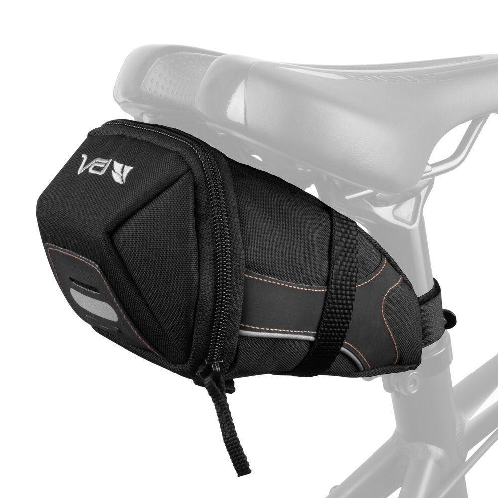 BV Bicycle Large Y-Series Strap-On Saddle Bag Bike Seat Rear