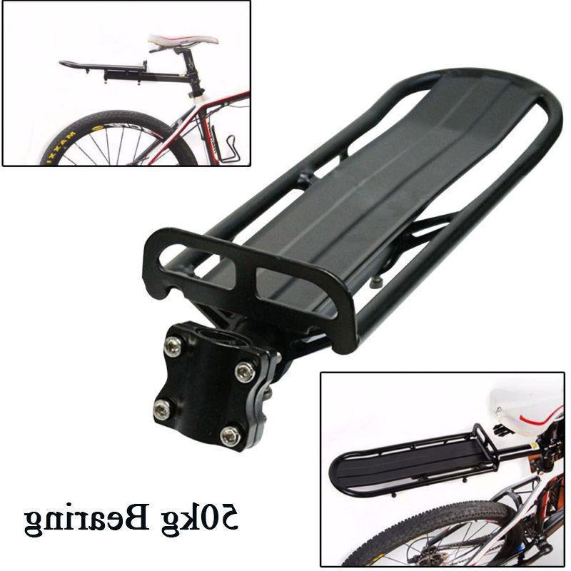 bike beam rack rear seat post shelf
