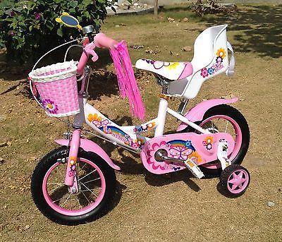 """New 12"""" Children Girls Kids Bike Bicycle With Training Wheel"""