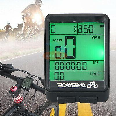 Bike Bicycle Cycling Wireless LCD Computer Odometer Speedome