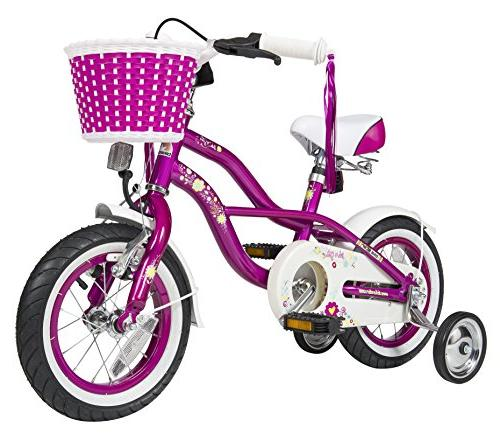 Kids Bike Bicycle for Girls w/ Training Wheels and Basket PI