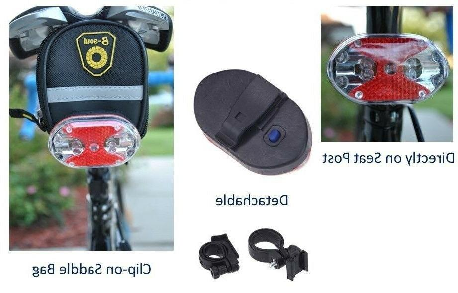 Bike Cycling Front/Head+Tail/Rear Light Flashing Waterproof