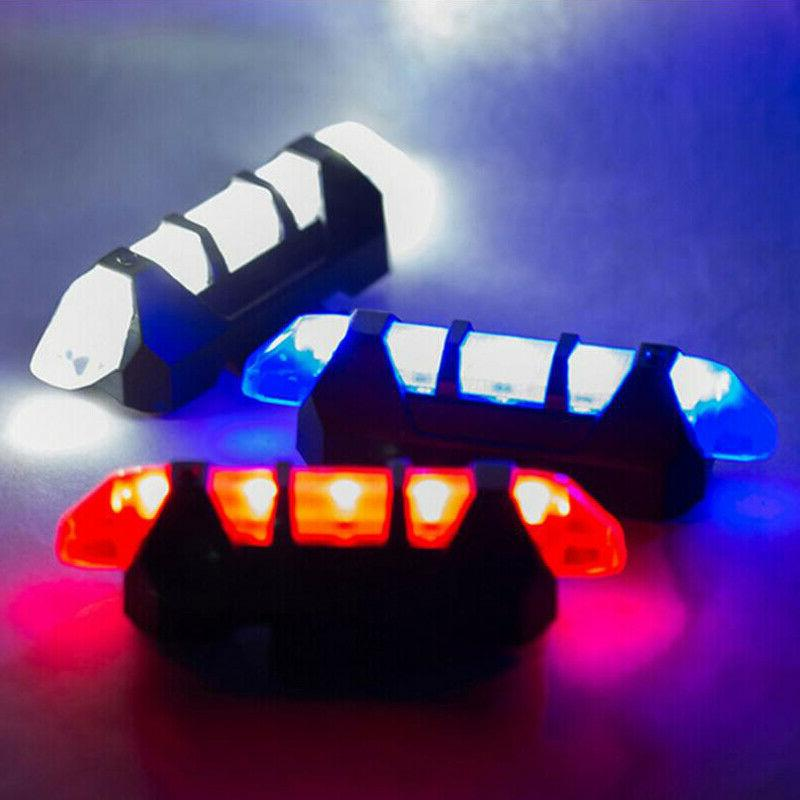 Bike Safety Light USB Rechargeable Warning US