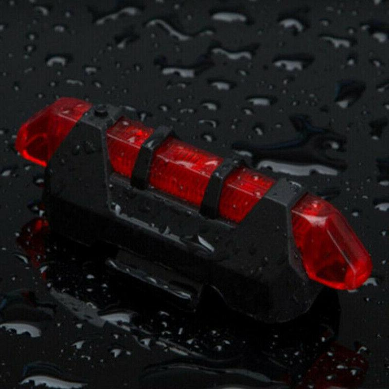 Bike Rear LED Safety Light Rechargeable Tail US