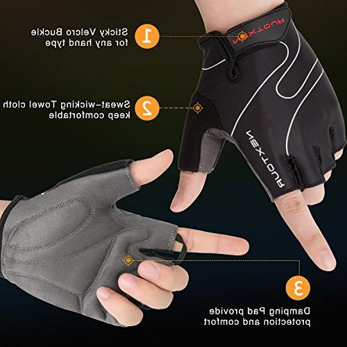NEXTOUR Bike Mountain Gloves Half Finger with Shock-absorbing Pad Breathable Gloves,