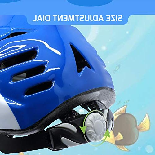M Merkapa Kids Bike Helmet Adjustable 3D Shark