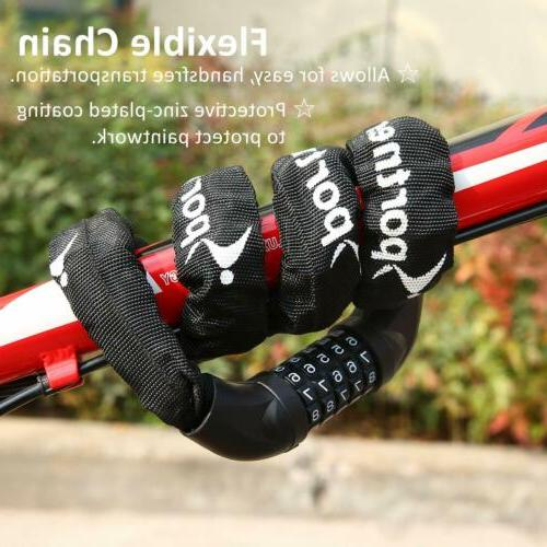 "DEFENDER Motorcycle Moped Bike 46/"" HARDENED STEEL 10mm Chain /& Mini U Lock"