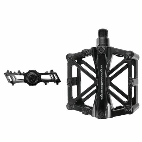 Bike Pedals Bicycle Flat Platform Cycling Alloy