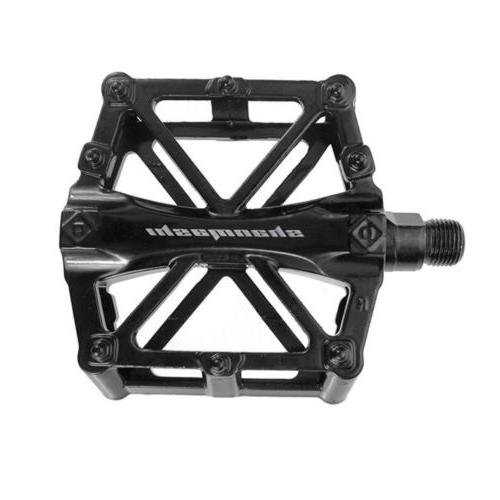 """Bike Pedals Mountain Bicycle Flat Platform Cycling Alloy 9/16"""""""