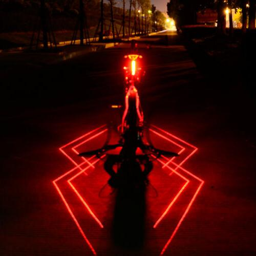 COB LED Bicycle Bike Cycling Rear Tail Light USB Rechargeabl