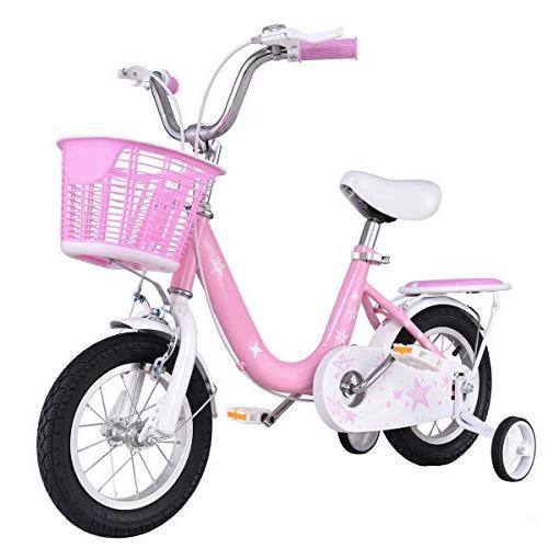 bike w training wheels basket