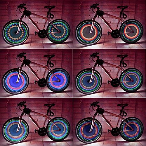 DAWAY Light Waterproof Wheel Tire for Cycling, Cool Accessories, Automatic Dual Super 32 Patterns, Batteries