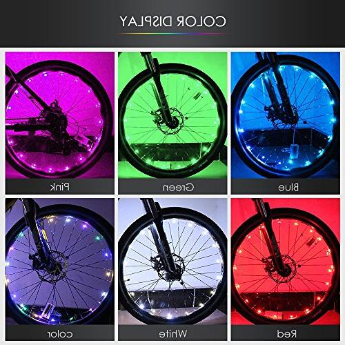 Bodyguard Bike Lights,Automatic and Manual Wheel Light String,Ultra Bright LED
