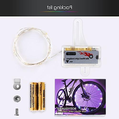 Bodyguard Bike Wheel and Manual Bicycle Wheel Light String,Ultra LED with Batteries