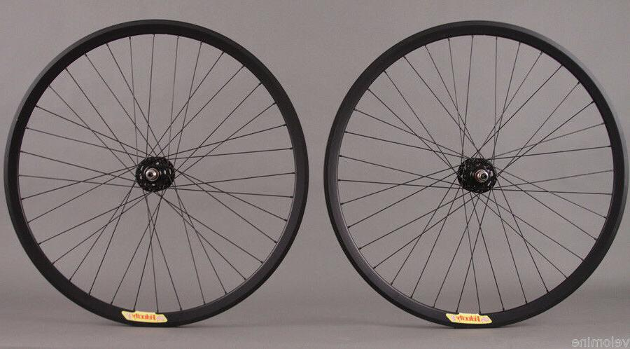 Velocity Deep V ALL BLACK Fixed Gear Track Bike Singlespeed