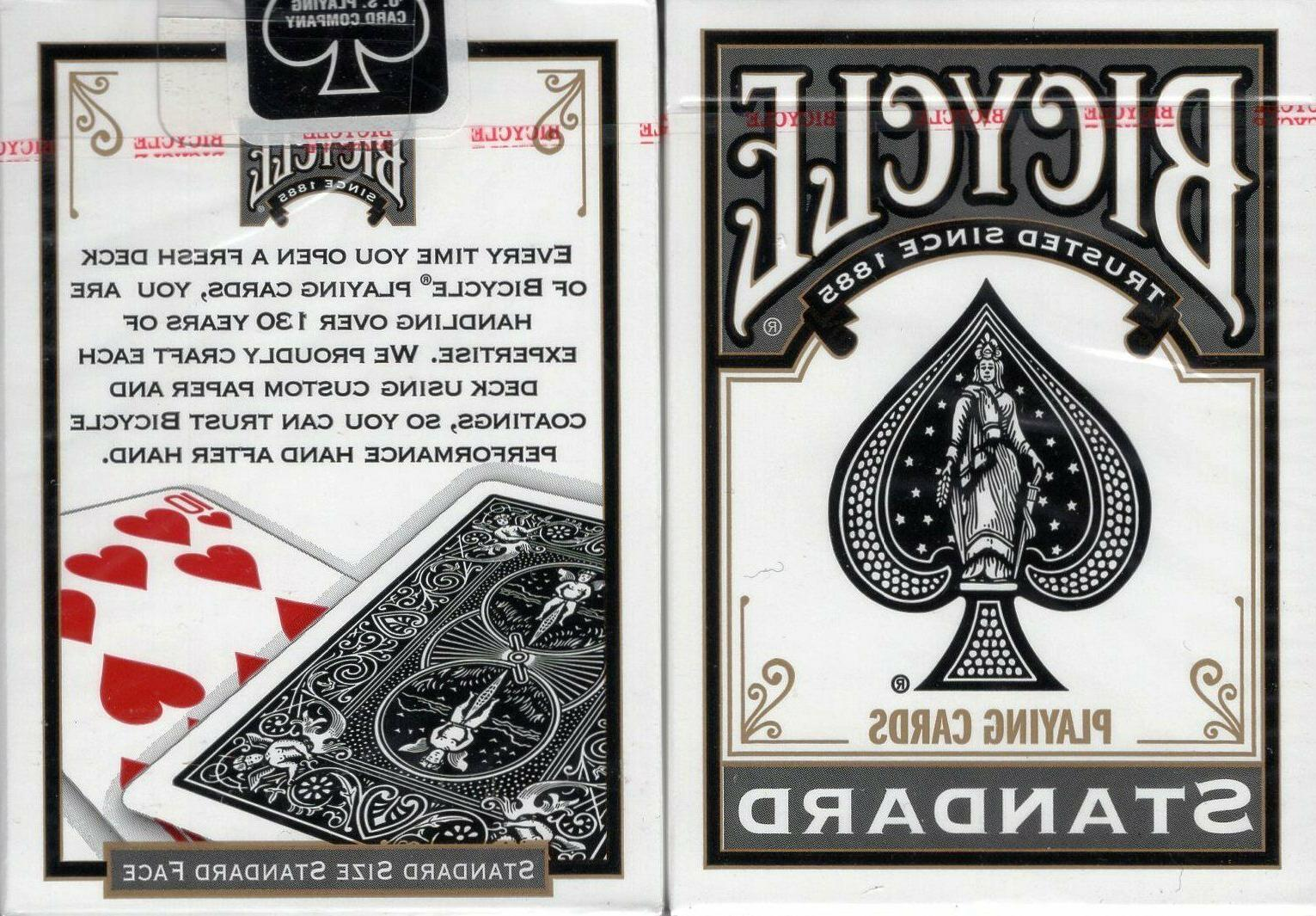 black standard playing cards poker size deck