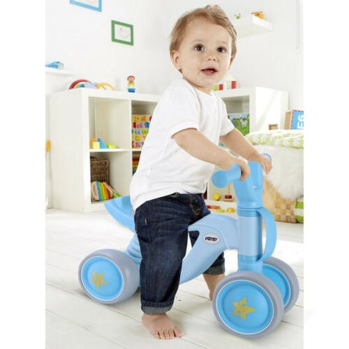 Baby Balance Bikes Bicycle 4 Wheel No Pedal Durable Kids Inf