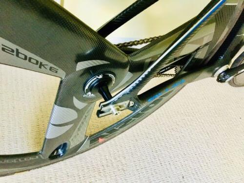 Blue Competition Carbon Track Bike Bike