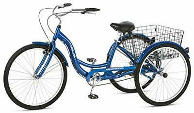 Boys Schwinn 26 Inch Meridian 3 Wheel Bike - Blue