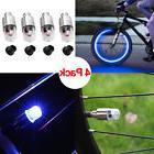 4pcs Blue LED Wheel Tyre Tire Valve Caps Neon Light for Bike