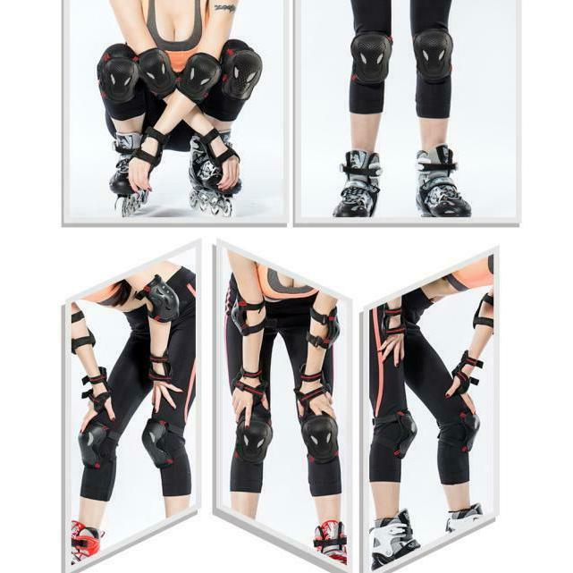6X Knee Pads BMX Bike and Elbow Pads with Wrist Guards Prote