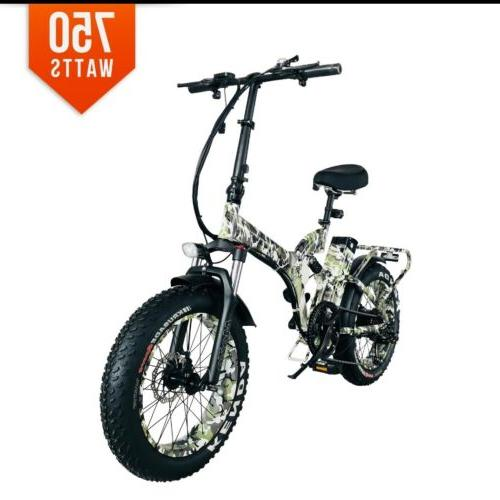 BPM 750W SUSPENSION 17AH TIRE ELECTRIC BICYCLE FOLDING