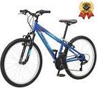 "24"" Boy's Mongoose Camrock Mountain Bike, Blue Boys Bicycle"