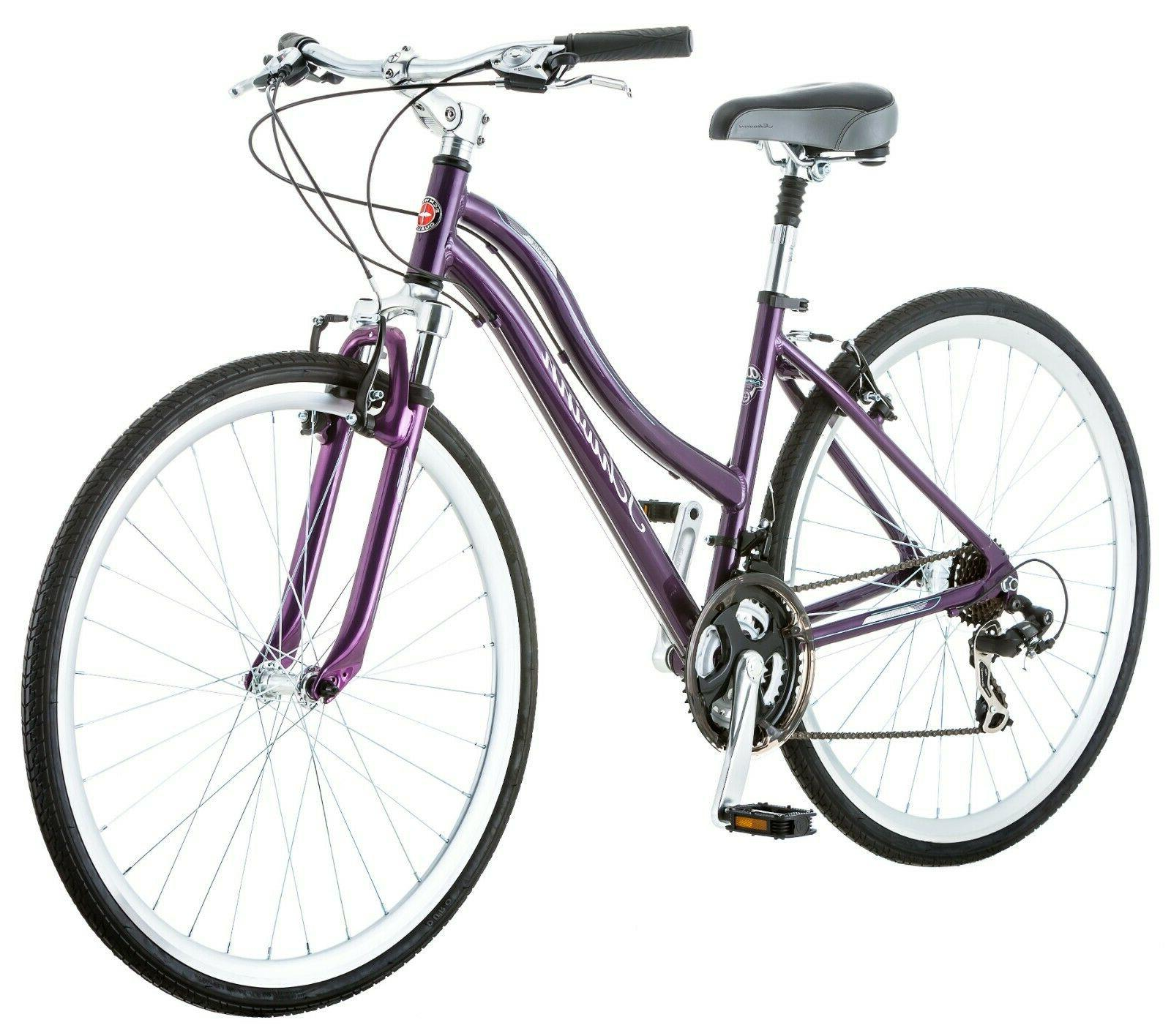 capital 700c women s hybrid bike purple