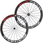 Superteam 50mm Carbon Fiber Road Bike Clincher Wheels 23mm B