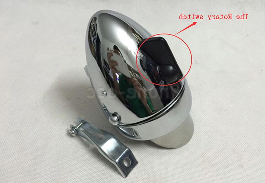 Classical Chrome Vintage Bicycle Bike Headlight Front