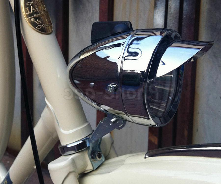 Classical Chrome Vintage Bicycle Bike LED Light Front Retro